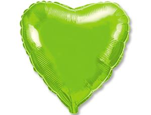 СЕРДЦЕ Металлик Lime Green