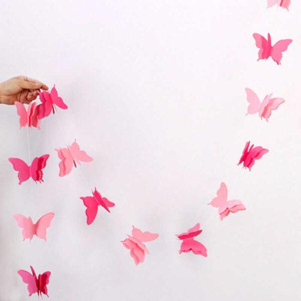Гирлянда, Бабочки Розовые