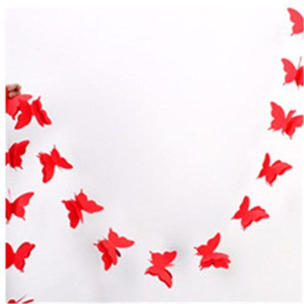 Гирлянда, Бабочки красные