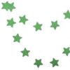 Гирлянда, звездочки Зеленые