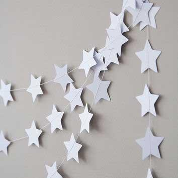 Гирлянда, звездочки серебро