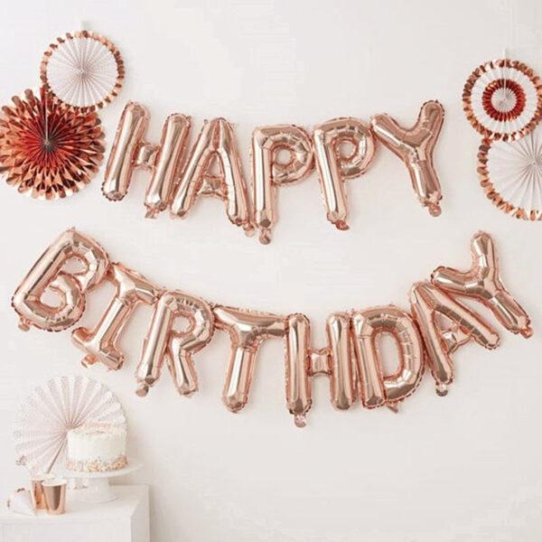 Набор Happy Birthday Rose Gold