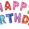 Набор Happy Birthday микс в горошек