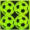 Неоновая наклейка Футбольный мяч