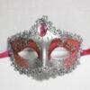маска карнавальная серебро