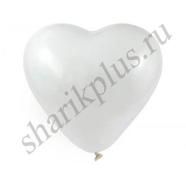"""10""""/25 Сердце Пастель Белый/White"""