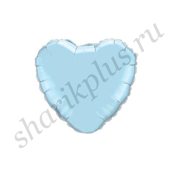 """Ф Б/РИС 18"""" СЕРДЦЕ Пастель Blue"""