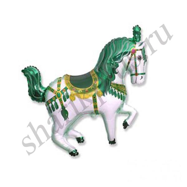 Ф М/ФИГУРА/3 Лошадь цирковая зеленая/FM