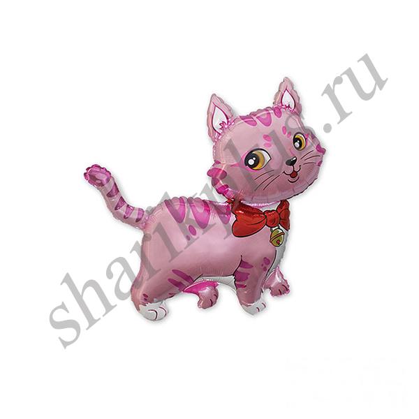 Ф М/ФИГУРА/3 Кошечка с бантом розовая/FM