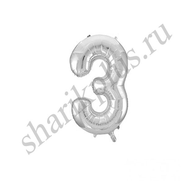 42''/107 ЦИФРА 3 Silver