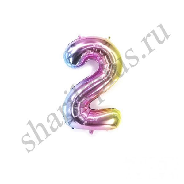42''/107 ЦИФРА 2 Радужная