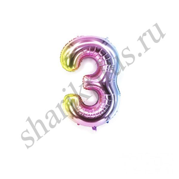 42''/107 ЦИФРА 3 Радужная