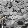Конфетти фольга Круг, Серебро, Металлик, 1 см, 300 г.