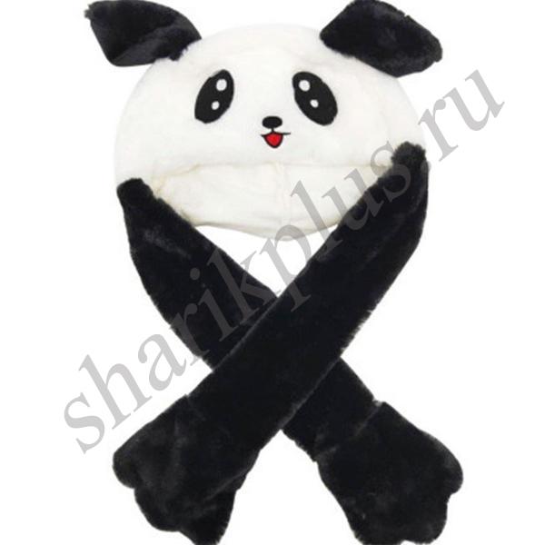 Шапка Панда с подвижными ушками